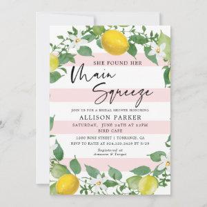 Lemon She Found Her Main Squeeze Bridal Shower Invitation starting at 2.61