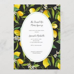 Lemon theme Bridal Shower Invitation starting at 2.55