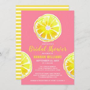 Lemon Watercolor with Pink Bridal Shower Invitation starting at 2.40