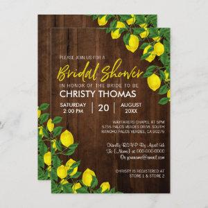 Lemon Wood Summer Bridal Shower Invite starting at 2.21