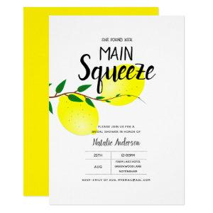 Lemon Yellow Bridal Shower She Found Her Squeeze Invitation starting at 2.15
