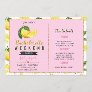 Lemonade bachelorette Itinerary invitation starting at 2.50