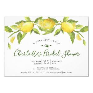 Lemons Blossom Greenery Bri Greenery Bridal Shower Invitation starting at 2.10