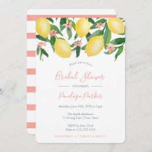 Lemons Bridal Shower, Citrus Yellow and Soft Pink Invitation starting at 2.86