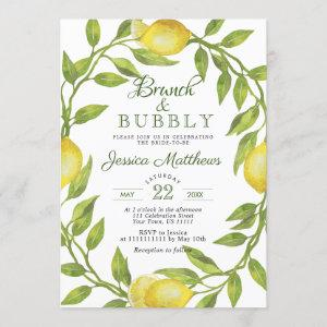 Lemons Greenery Blossom Brunch & Bubbly Invitation starting at 2.35