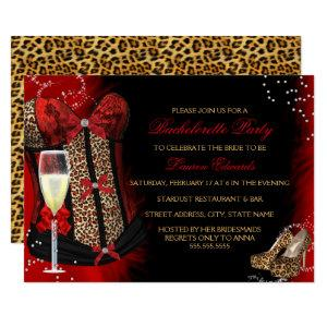 Leopard Print Corset Bachelorette Party Invitation starting at 2.55
