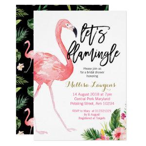 Let's Flamingle Bridal Shower Invitation starting at 2.55