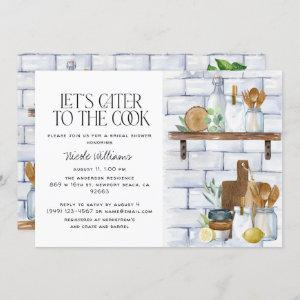 Let's Cater to the Cook Watercolor Bridal Shower Invitation starting at 2.40