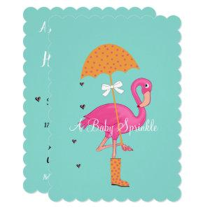 Let's Flamingle Flamingo Baby Bridal Shower Party Invitation starting at 2.80