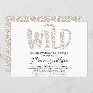 Let's Get Wild Leopard Bachelorette party Invitation starting at 2.50