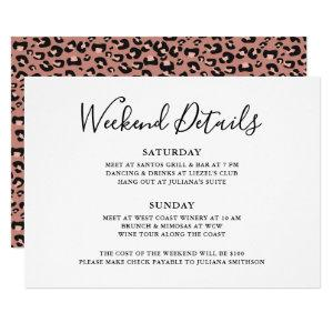 Let's Get Wild Weekend Detail Leopard Bachelorette Invitation starting at 2.50
