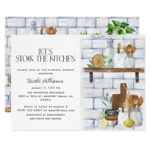 Let's Stock the Kitchen Watercolor Bridal Shower Invitation starting at 2.40