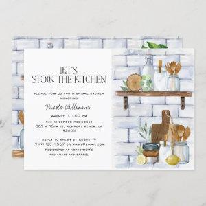 Let's Stock the Kitchen Watercolor Bridal Shower starting at 2.40