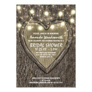 Lights + Oak Tree Bark Bridal Shower Invitations starting at 2.25