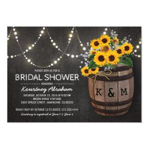 Lights Rustic Vineyard Sunflower Bridal Shower Invitation starting at 2.40