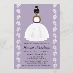 Lilac African American Pretty Bride Bridal Shower Invitation starting at 2.66