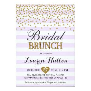 Lilac Gold Bridal Brunch Invitations Cards Mimosa starting at 2.45