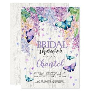 Lilacs and Butterfly | Bridal Shower Invitation starting at 2.50