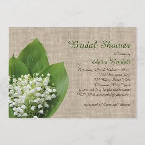 Lily of the Valley Bridal Shower burlap starting at 2.82