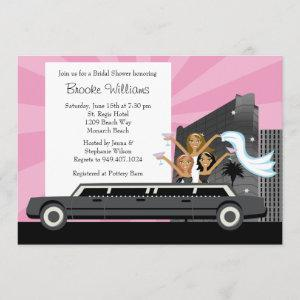 Limo Bridal Shower Invitation African American starting at 3.24
