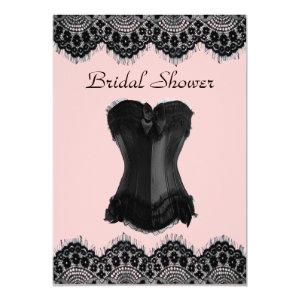 Lingerie party vintage corset bridal shower invite starting at 2.77