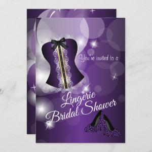 Lingerie Purple Bridal Shower Party Invitation starting at 2.40