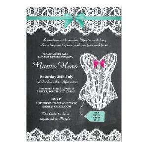 Lingerie Shower Bridal Party Chalk Lace Invite starting at 2.51