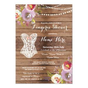 Lingerie Shower Bridal Party Wood Floral Invite starting at 2.51