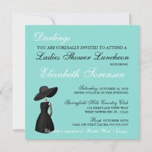 Little Black Dress Theme Shower Teal Blue Party starting at 3.15