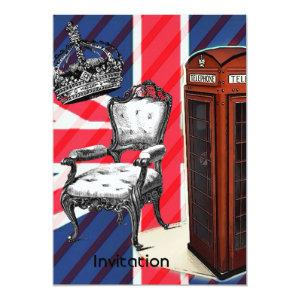 London telephone booth victorian crown union jack invitation starting at 2.77