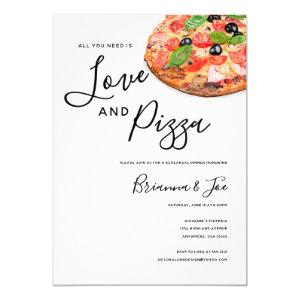 Love and Pizza Invitation starting at 2.45