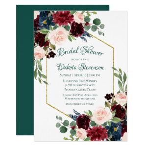 Love Bloom | Bold Floral Wreath Bridal Shower Invitation starting at 2.40