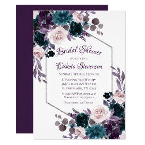 Love Bloom | Eggplant Moody Purple Bridal Shower Invitation starting at 2.40