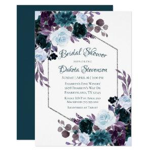 Love Bloom | Turquoise Teal Flora Bridal Shower Invitation starting at 2.40