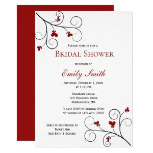 Love Grows | Red Hearts Bridal Shower Invitation starting at 2.40