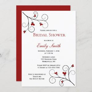 Love Grows   Red Hearts Bridal Shower Invitation starting at 2.40