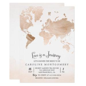 Love is a Journey Map Bridal Shower Invitation starting at 2.50