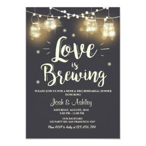 Love is brewing bbq rehearsal bridal shower invitation starting at 2.66