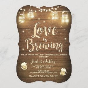 Love is brewing bbq rehearsal bridal shower Wood starting at 2.91