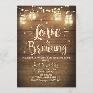 Love is Brewing BBQ Rehearsal Bridal Shower Wood starting at 2.66