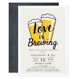 Love is Brewing Beer BBQ Rehearsal Dinner Invitation starting at 2.56