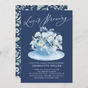 Love is Brewing Blue Floral Bridal Tea Shower starting at 2.40