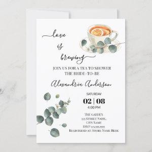 Love Is Brewing Bridal Shower Greenery Eucalyptus starting at 2.55
