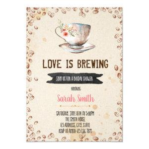Love is brewing bridal shower invitation starting at 2.50