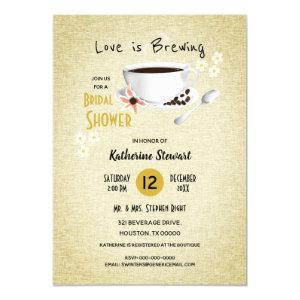 Love Is Brewing Coffee Bridal Invitation starting at 2.35