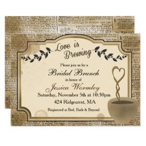 Love is Brewing Coffee Bridal Shower Invitation starting at 2.40