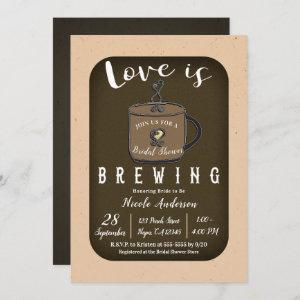 LOVE IS BREWING Coffee Cafe Shop Bridal Shower starting at 2.65