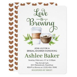 Love is Brewing Coffee Cup Bridal Shower Invitation starting at 2.75