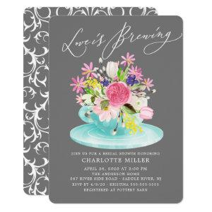 Love is Brewing Colorful Floral Bridal Tea Shower Invitation starting at 2.60
