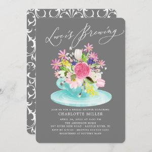 Love is Brewing Colorful Floral Bridal Tea Shower starting at 2.60